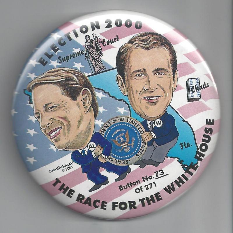 2004 ELECTION PIN REPUBLICAN FLUSH THE JOHNS